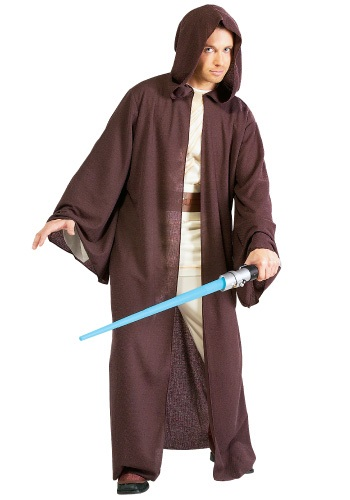 Click Here to buy Deluxe Adult Jedi Robe - Star Wars Jedi Robe Costume from HalloweenCostumes, CDN Funds & Shipping
