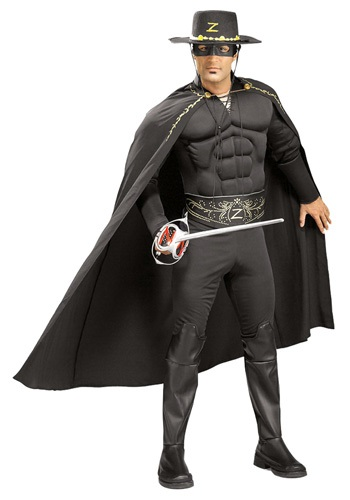 Click Here to buy Adult Zorro Costume - Mask of Zorro Halloween Costumes from HalloweenCostumes, CDN Funds & Shipping