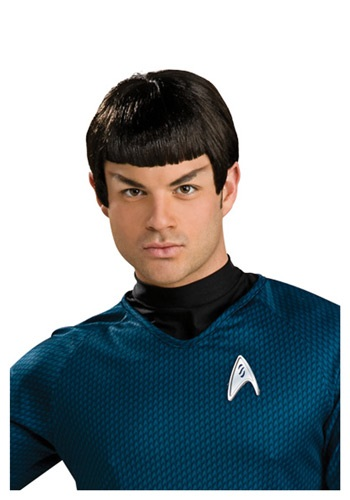 Click Here to buy Star Trek Spock Wig with Ears - Star Trek Halloween Costume Accessory from HalloweenCostumes, CDN Funds & Shipping