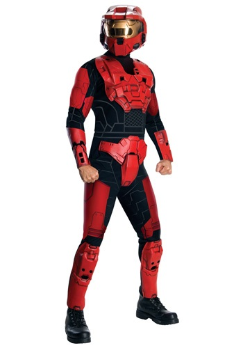 Click Here to buy Deluxe Halo Red Spartan Costume from HalloweenCostumes, CDN Funds & Shipping