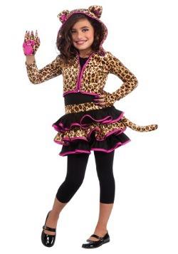 Girls Leopard Hoodie Costume