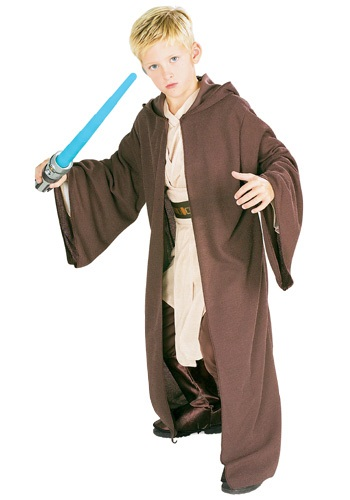 Click Here to buy Kids Deluxe Jedi Robe - Star Wars Kids Jedi Robe Costume from HalloweenCostumes, CDN Funds & Shipping