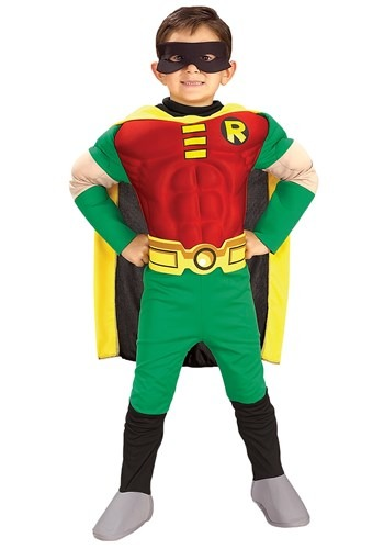 Click Here to buy Kids Deluxe Robin Costume from HalloweenCostumes, CDN Funds & Shipping
