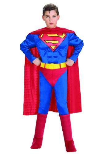 Kids Deluxe Superman Costume - Kids Superman Halloween Costumes