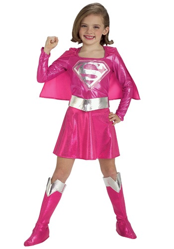 Child Pink Supergirl Costume