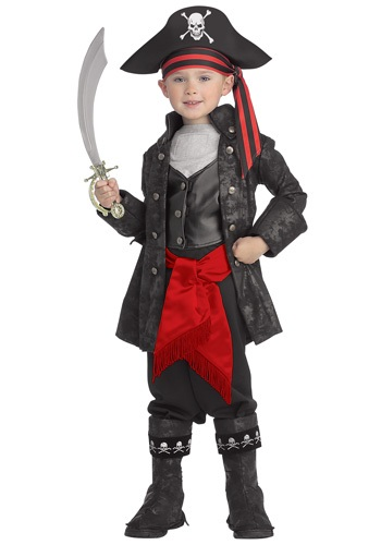 Click Here to buy Kids Captain Black Pirate Costume from HalloweenCostumes, CDN Funds & Shipping