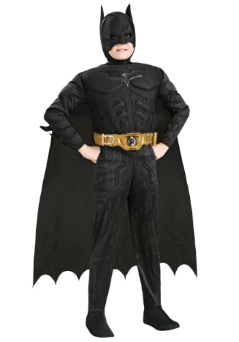 Click Here to buy Kids Deluxe Dark Knight Batman Costume from HalloweenCostumes, CDN Funds & Shipping