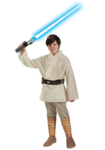 Click Here to buy Deluxe Kids Luke Skywalker Costume from HalloweenCostumes, CDN Funds & Shipping