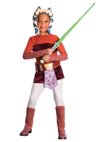 Click Here to buy Kids Deluxe Ahsoka Costume - Kids, Girls Clone Wars Costumes from HalloweenCostumes, CDN Funds & Shipping