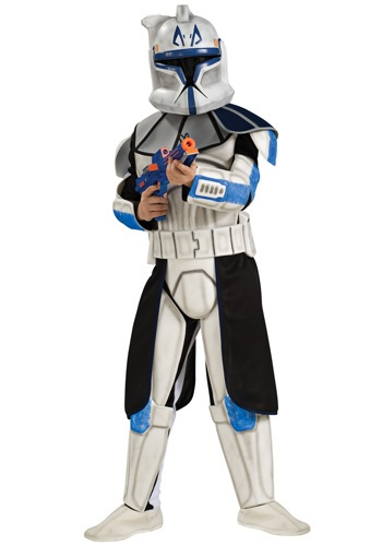 Child Deluxe Blue Clone Trooper Rex Costume