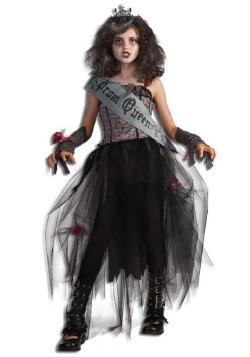 Girls Goth Prom Queen Costume