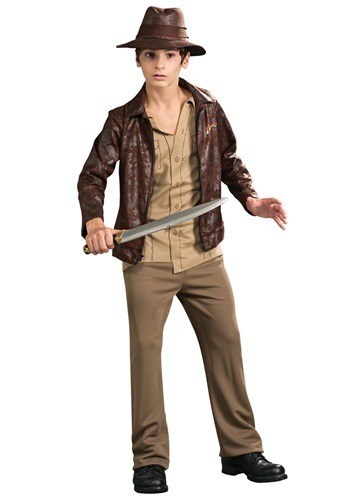 Click Here to buy Teen Deluxe Indiana Jones Costume from HalloweenCostumes, CDN Funds & Shipping