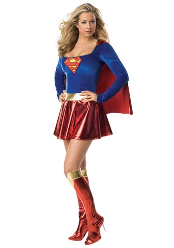 Womens Sexy Supergirl Costume