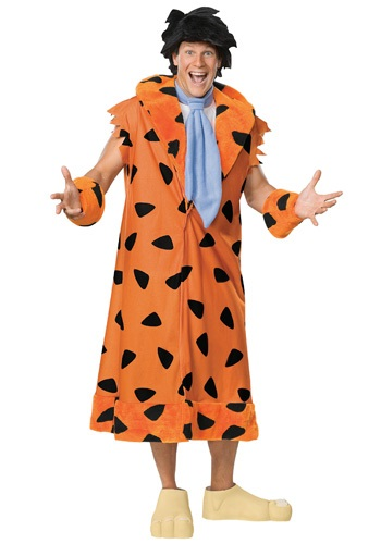 Click Here to buy Deluxe Adult Fred Flintstone Costume from HalloweenCostumes, CDN Funds & Shipping