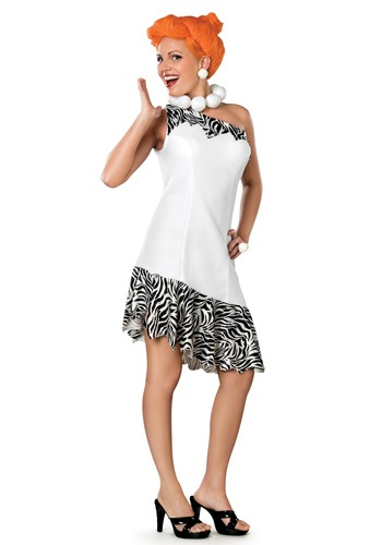 Click Here to buy Deluxe Adult Wilma Flintstone Costume from HalloweenCostumes, CDN Funds & Shipping