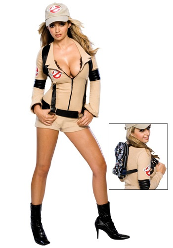 Click Here to buy Womens Sexy Ghostbuster Costume from HalloweenCostumes, CDN Funds & Shipping