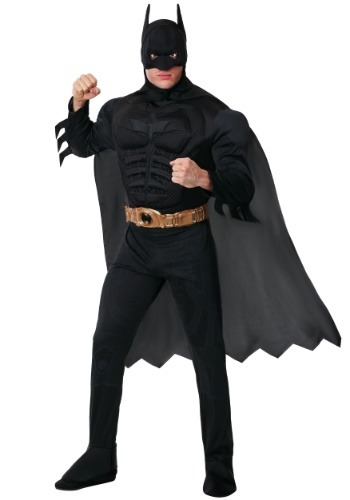 Click Here to buy Adult Deluxe Dark Knight Batman Costume from HalloweenCostumes, CDN Funds & Shipping