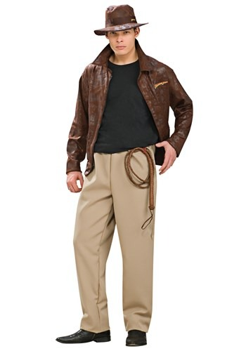Click Here to buy Adult Deluxe Indiana Jones Costume from HalloweenCostumes, CDN Funds