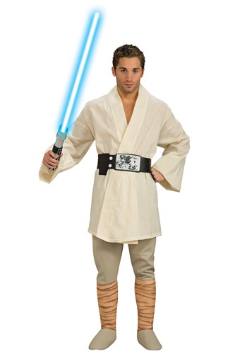 Click Here to buy Adult Deluxe Luke Skywalker Costume from HalloweenCostumes, CDN Funds & Shipping