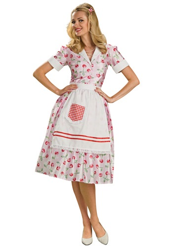 Click Here to buy 50s Housewife Costume from HalloweenCostumes, CDN Funds & Shipping