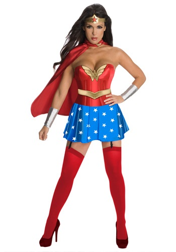 Click Here to buy Wonder Woman Corset Costume from HalloweenCostumes, CDN Funds